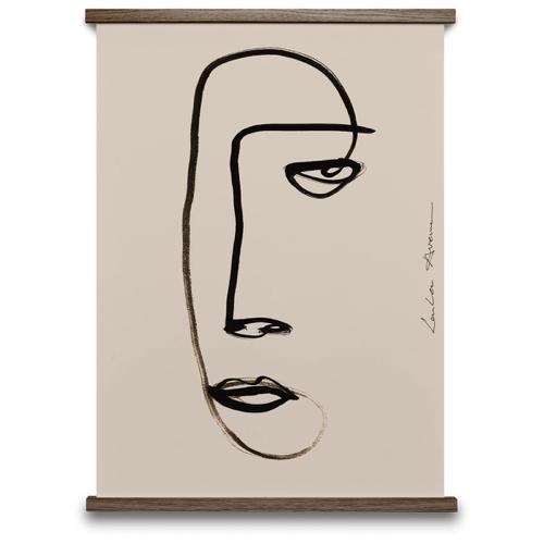 poster deco murale scandinave visage