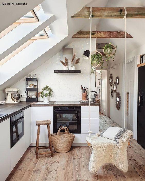 amenager cuisine sous les combles decoration moderne