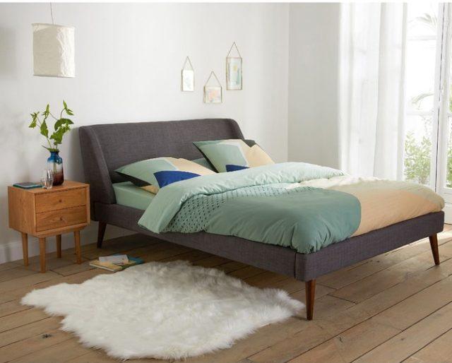 lit avec tête de lit promo