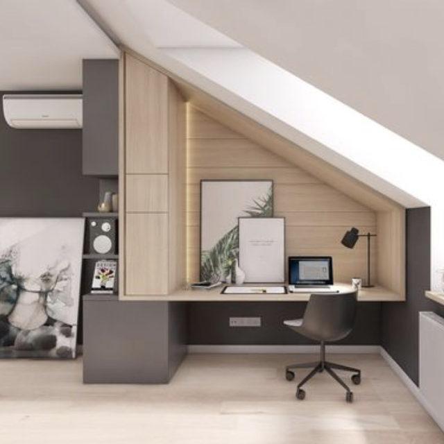 aménagement meuble sur mesure combles bureau
