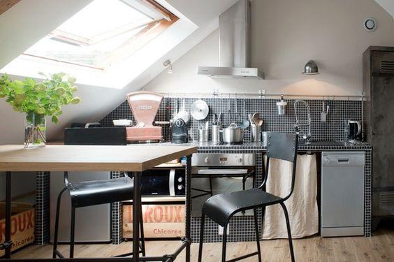 conseils gain de place cuisine combles petit espace