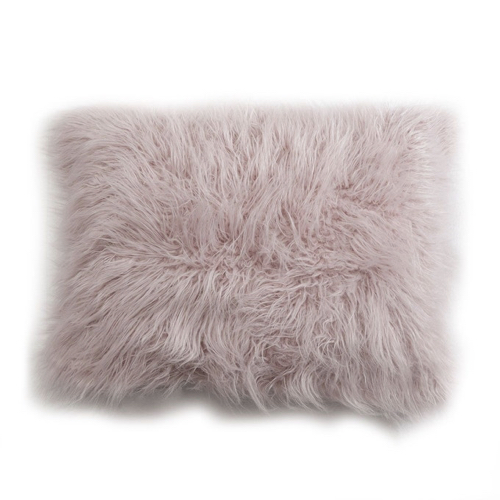 coussin fourrure style hygge scandinave