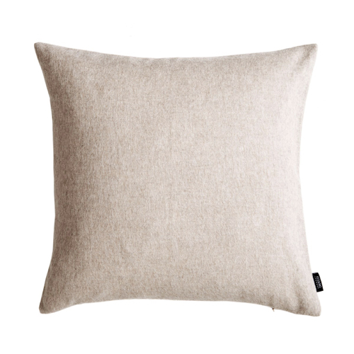 coussin laine style hygge beige
