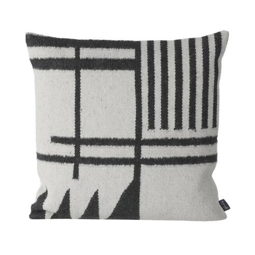 coussin laine feutrée style nordique