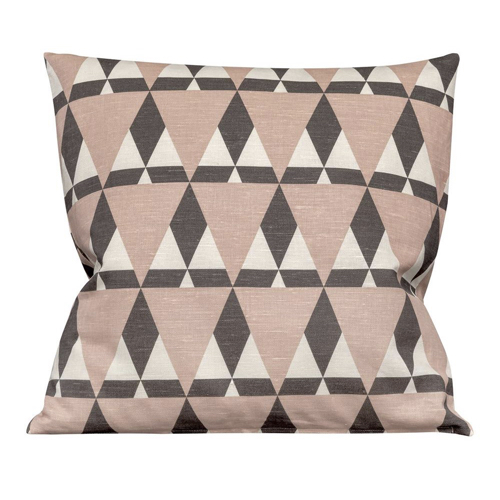 coussin style scandinave triangle rose