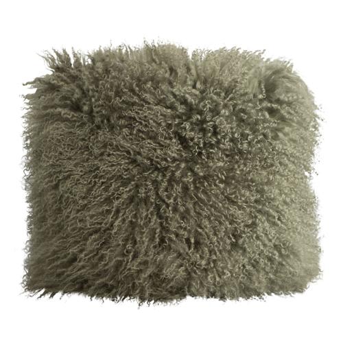 coussin fourrure marron gris style scandinave