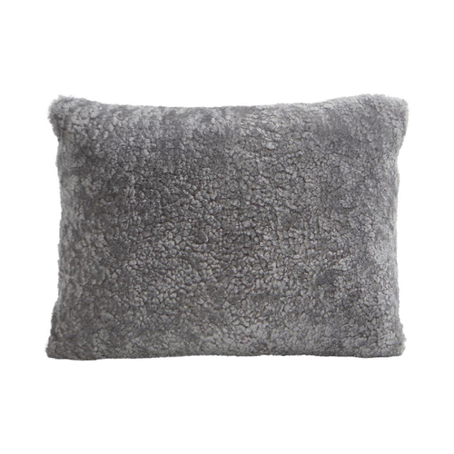 coussin fourrure gris style scandinave