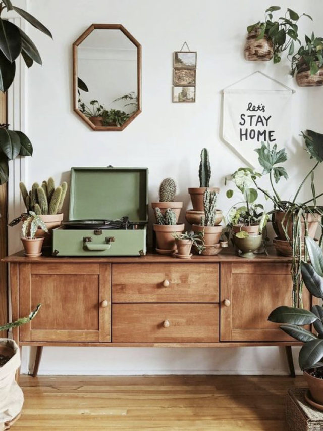 meuble mid century vintage nature chic salon