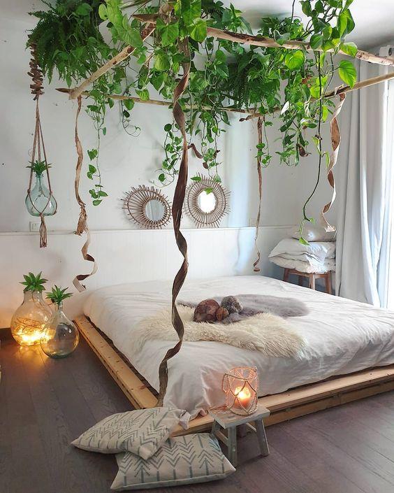 décoratio chambre cadre suspendu pour plante