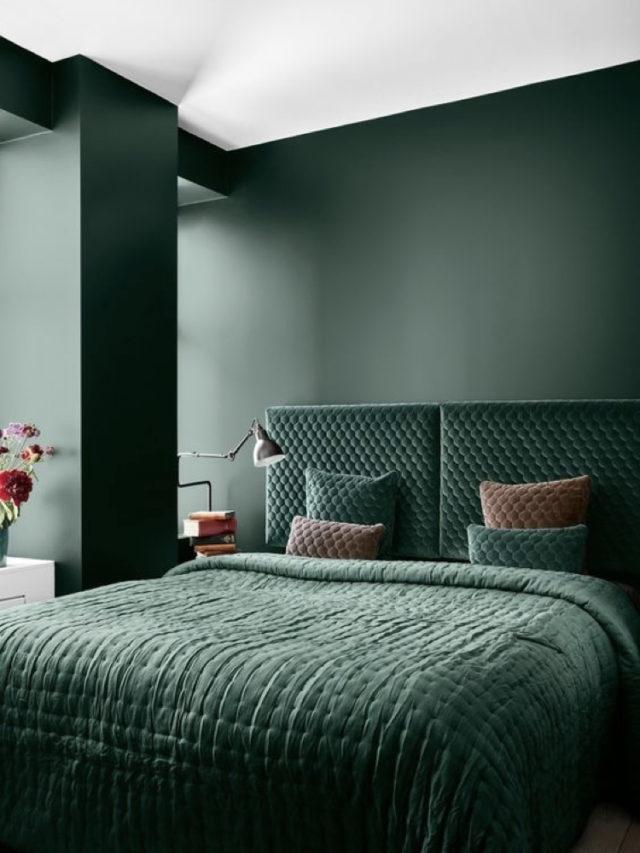 deco chambre couleur ton sur ton tete de lit velours