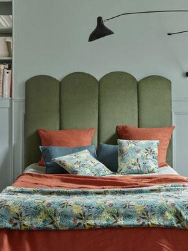 deco chambre tete de lit velours originale