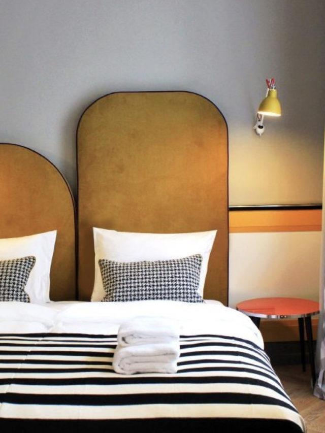 tête de lit élégante et rétro