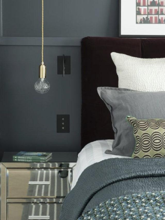 decoration chambre classique chic tete de lit velours