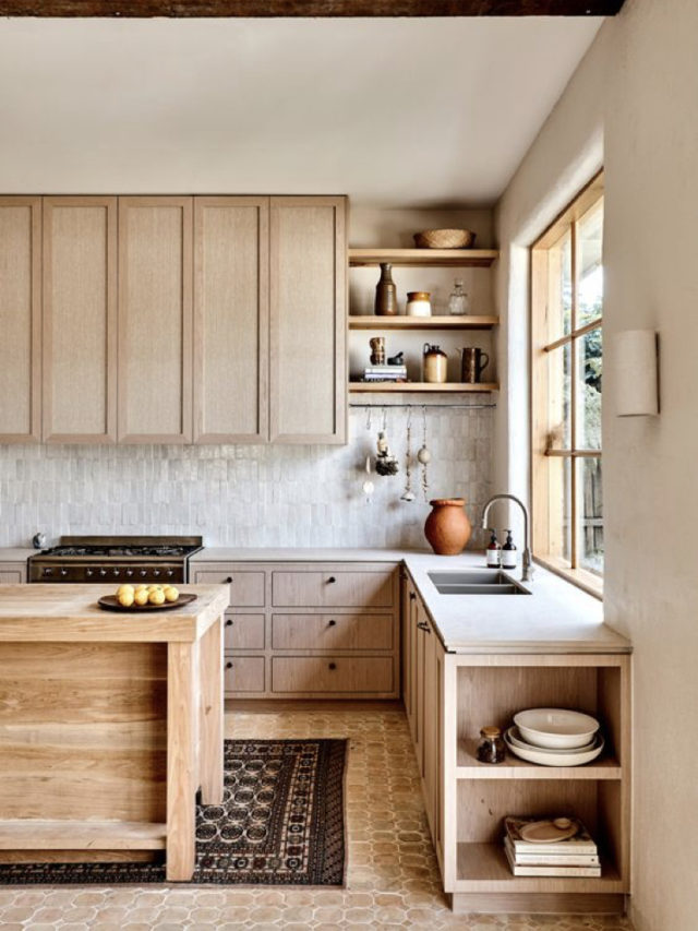 cuisine moderne et slow en bois