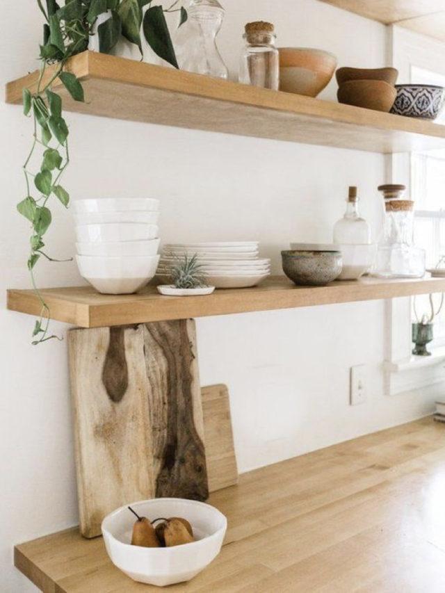 decoration cuisine etagere plante slow