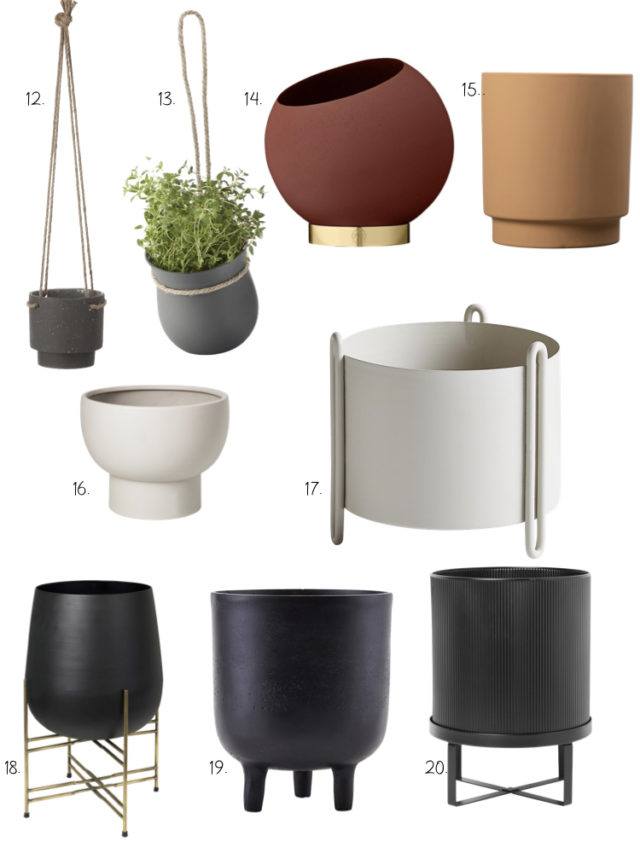 decoration salle de bain cache pot plante design