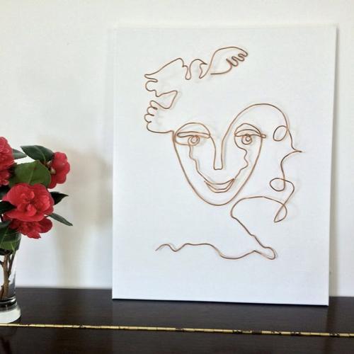 decoration en fil visage made in france
