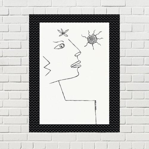 poster deco visage made in france