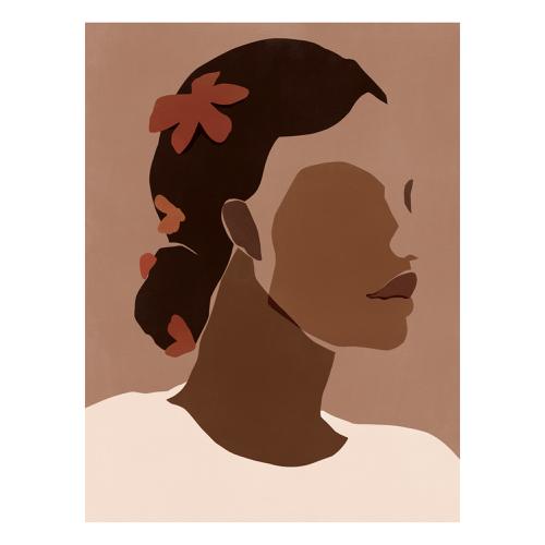 decoration visage affiche murale femme couleur