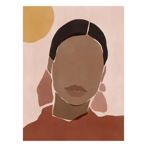 decoration visage affiche murale femme couleur silhouette