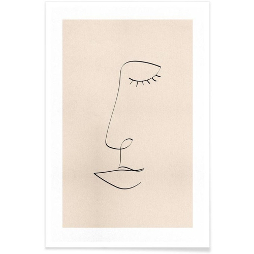 poster decoration trait visage