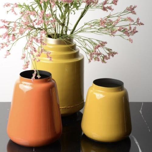 vase deco jaune