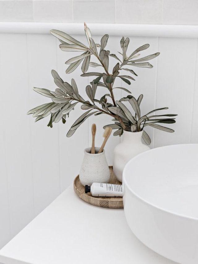 decoration slow plantes verte salle de bain