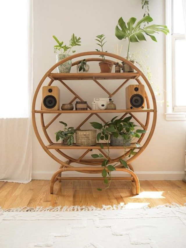 etagere ronde style deco nature