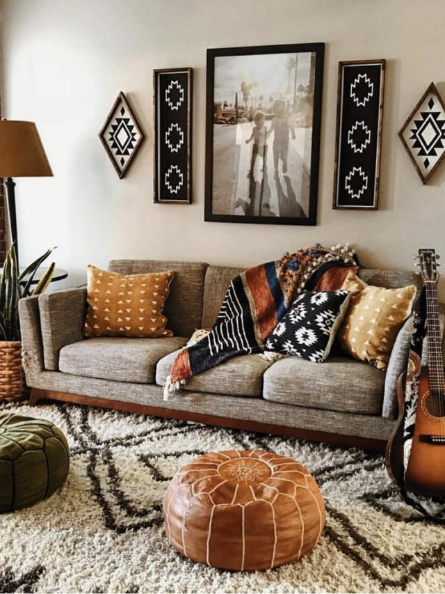 joli petit salon canapé gris