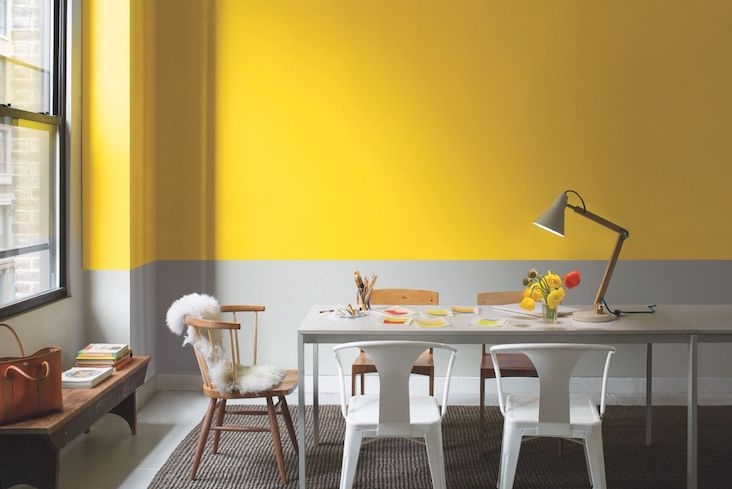 idee deco salle a manger jaune