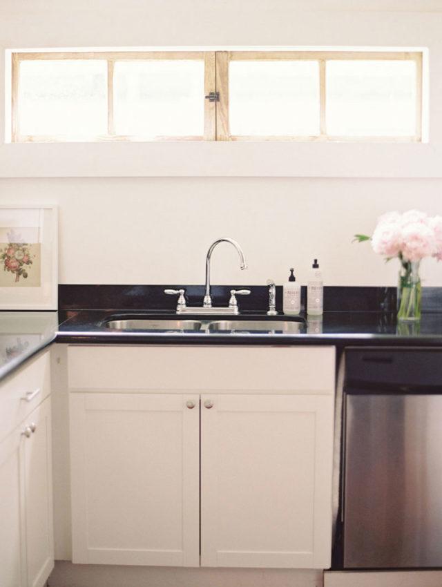 visite deco cuisine vintage noir et blanc