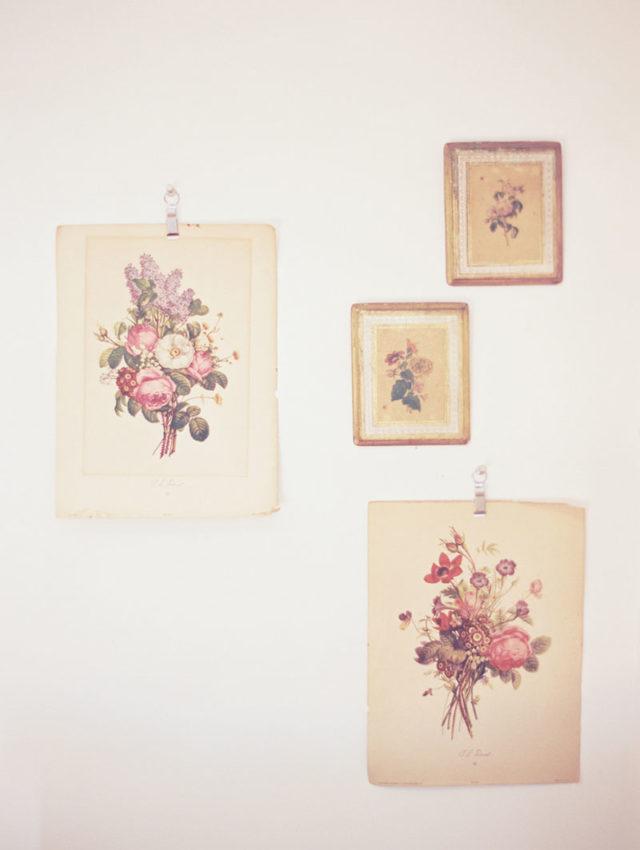 visite déco décoration murale affiche florale dessin vintage