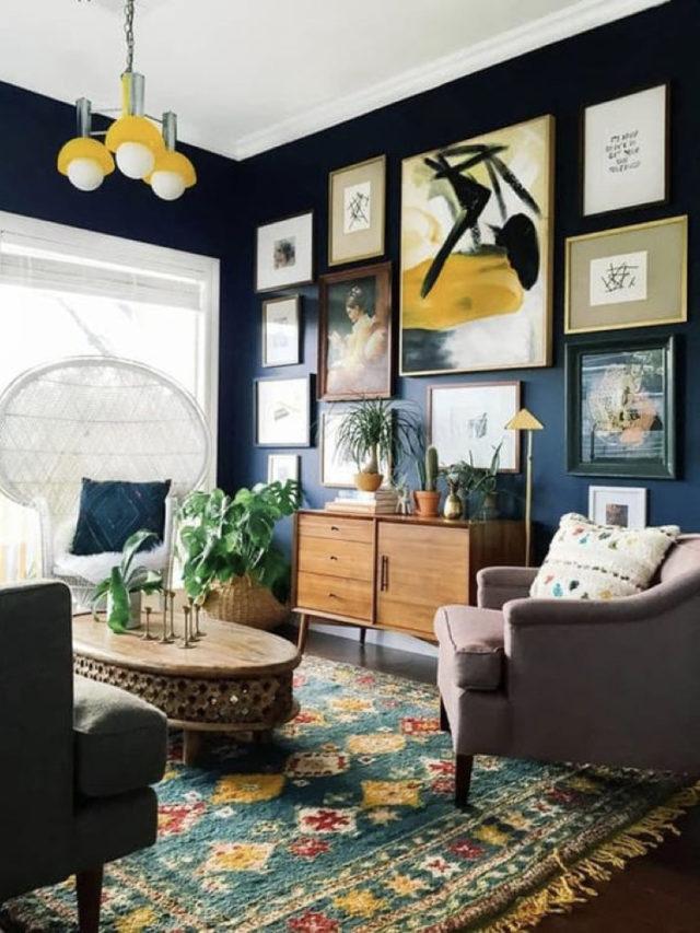 peinture couleur foncée idée déco meuble et cadre