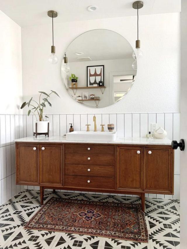 transformation meuble vintage en mobilier vasque