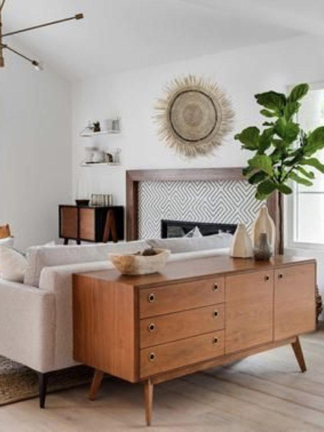 mobilier salon année 50 arrière canapé idée déco