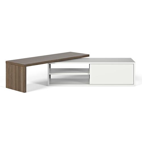 meuble tv modulable bois blanc