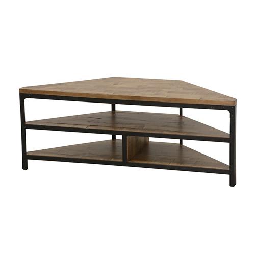 meuble telé angle bois métal