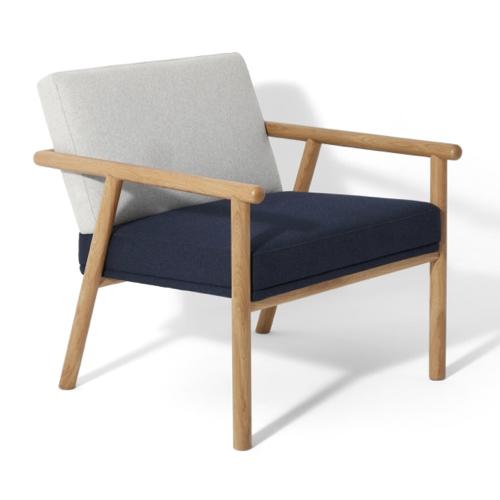 fauteuil chaise mid century bicolore
