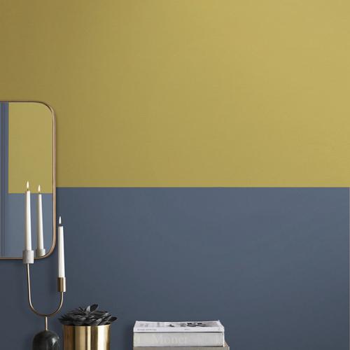 peinture couleur jaune moutarde