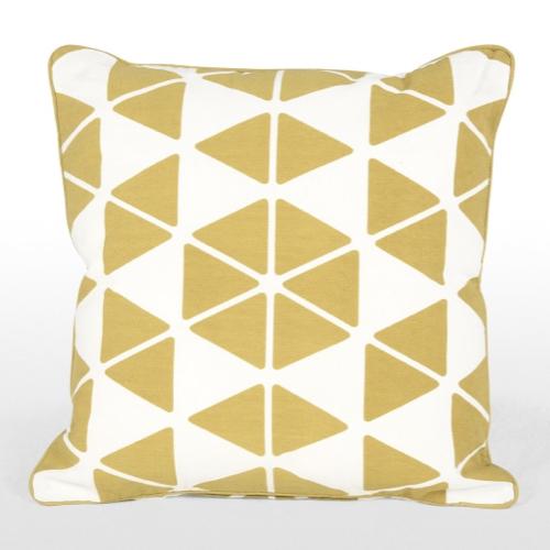 coussin motif geometrique jaune