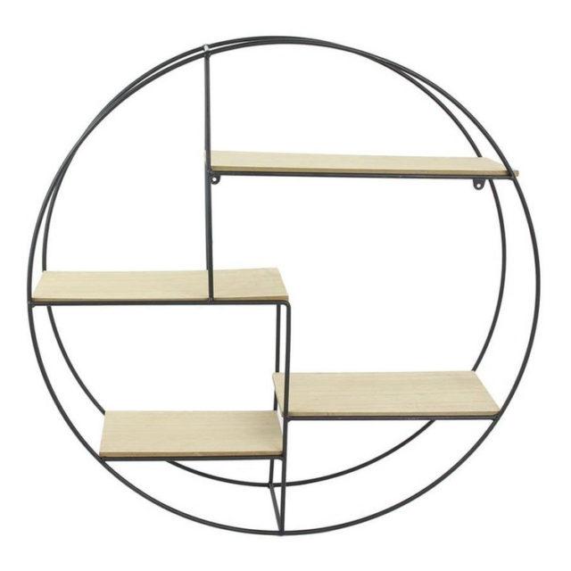 etagere ronde metal asymétrique