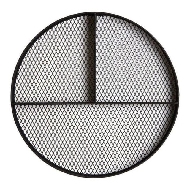 étagère metal noir ronde murale