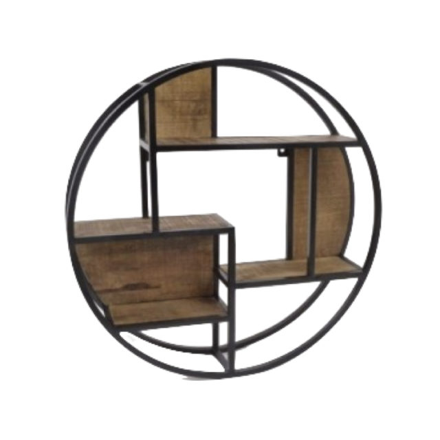 etagere ronde style industriel