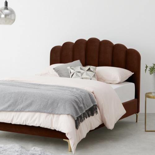 lit et tête de lit rétro vintage original