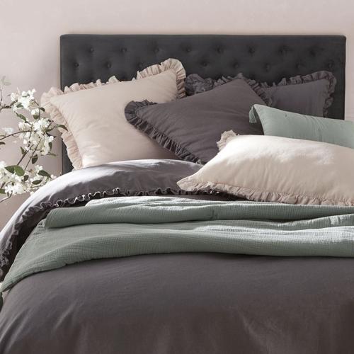 tête de lit classique en velours