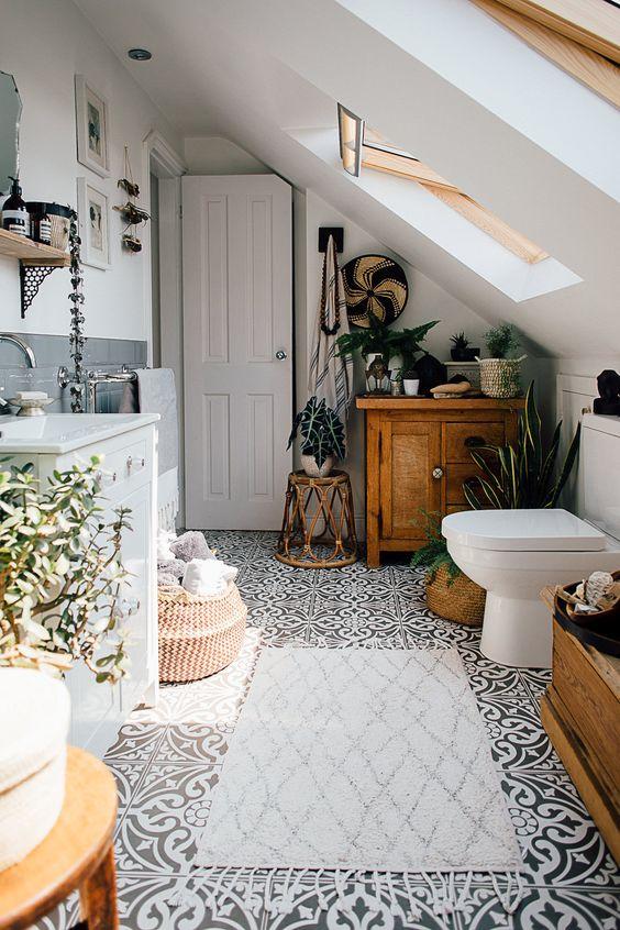 Petit et génial - combles salle de bain