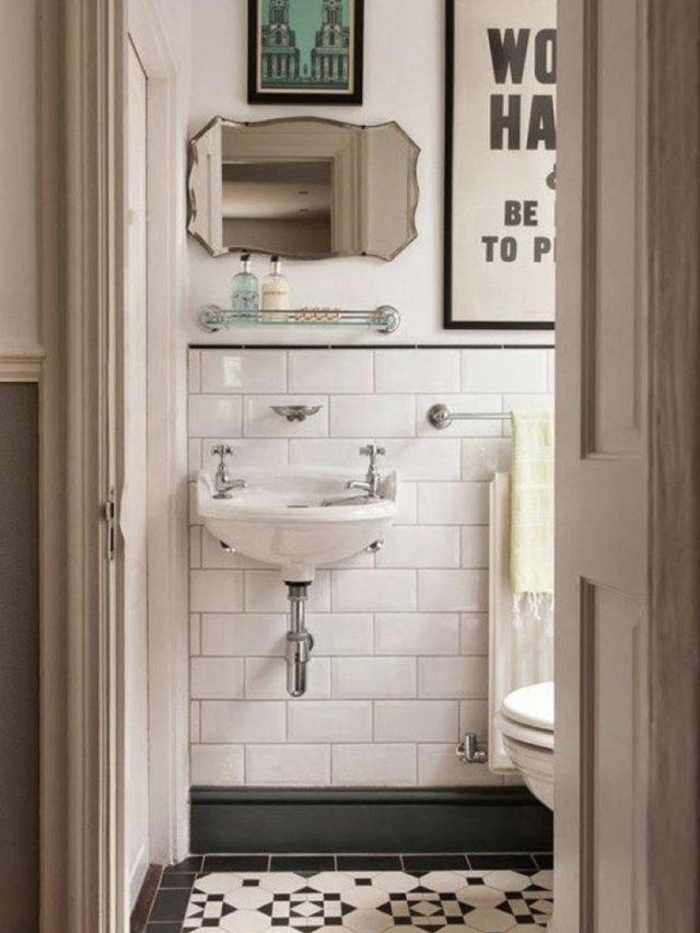 miroir mural vintage recup deco salle de bain