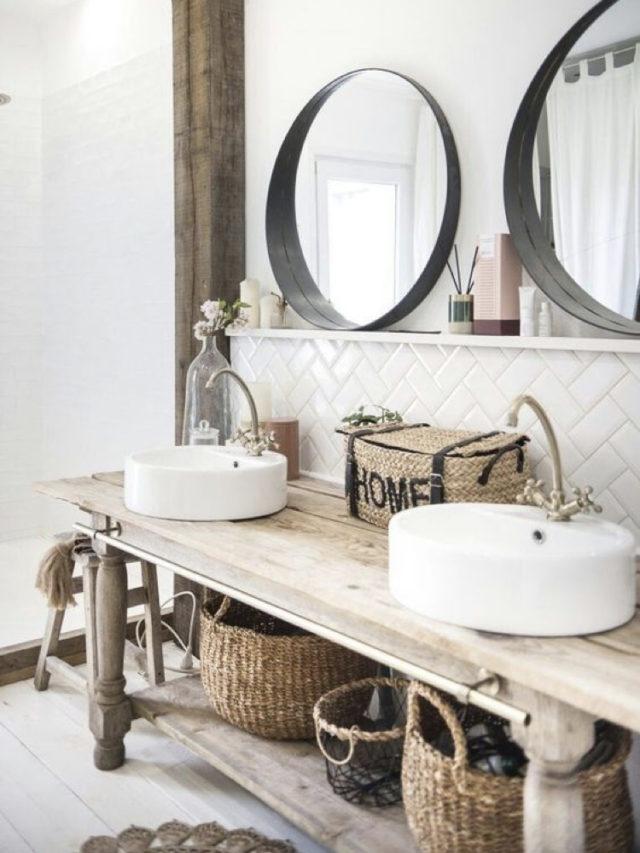 recup ancien etabli meuble vasque salle de bain