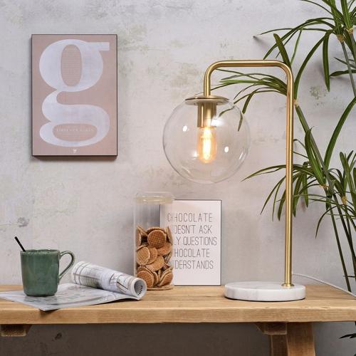 reussir eclairage salon conseil lampe or et verre