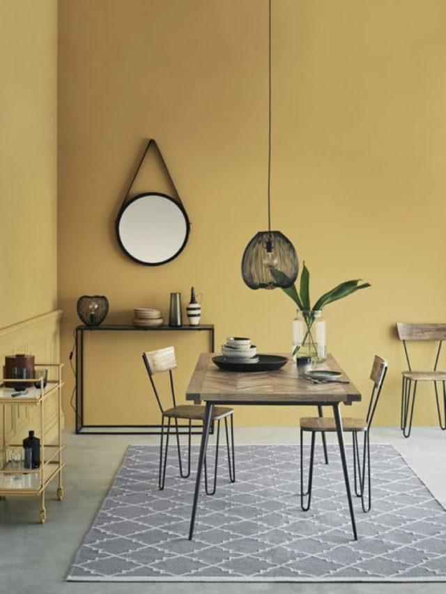peinture jaune pale salle a manger